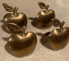 New listing Brass Apple Napkin Ring Holders Lot of 4