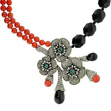 """NWT $330 Heidi Daus """"Blossom du Jour"""" Crystal Drop Statement Couture Necklace"""