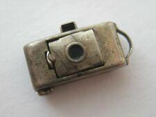VINTAGE Sterling Photography CAMERA Silver Bracelet Charm POP UP LENS
