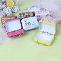Fashion Metal Mini Suitcase for Dolls Miniature Toys Trunk Dollhouse Decoration