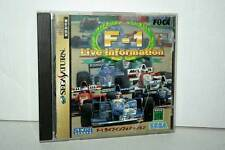 F-1 LIVE INFORMATION GIOCO USATO SEGA SATURN EDIZIONE JAPAN NTSC/J VBC 36025