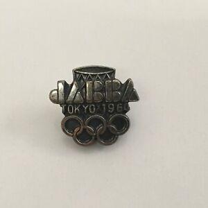 1964 TOKYO OLYMPIC PIN BADGE JAPAN BASKETBALL ASSOCIATION PINS