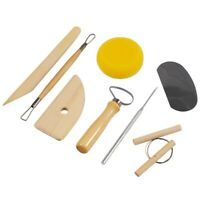 8 Piece Clay Sculpting Pottery Tools Art Projects Carving Kit Sets Sponge Knife