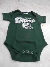 Baby Boy 0-3 Months NY Jets Football FUTURE CHAMP Green Creeper Romper Bodysuit