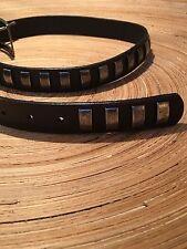 Zara Belt Genuine Leather Black With Metal Studs Size EUR 90