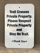 Vintage Crested Butte mountain bike trail sign 12x18 in Thick Alum Reflective