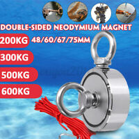 1322LBS Salvage Strong Recovery Magnet Neodymium Hook Treasure Hunter Fishing