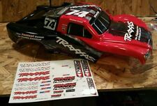 NEW TRAXXAS SLASH 1/10 2wd 4wd VXL ON BOARD AUDIO RED & BLACK BODY MARK JENKINS