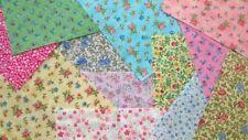 Small Floral Flower fabric scraps Pack remnants patchwork bundles 100% cotton