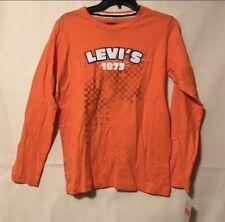 Levi Strauss Boys Long Sleeve Shirt Orange Large Youth 1875