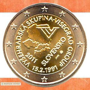 Sondermünzen Slowakei: 2 Euro Münze 2011 Visegrad Sondermünze zwei € Gedenkmünze