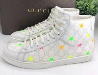Gucci Authentic GG Supreme Stars High Top Sneakers White 12 US 13/13.5 W/ Box