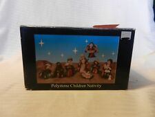 8 Piece Painted Polystone Children Nativity Set #M10714 from 2006