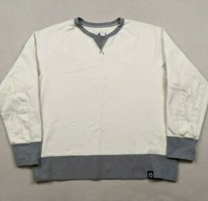 American Giant Creme Pullover Thick Heavyweight Sweatshirt Men's Large USA Made