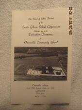 Program for Owensville IN Community School Dedication Ceremonies 1993 Historical