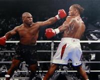 Lennox Lewis Autographed 16x20 Tyson Missing Punch Photo- JSA W Authenticated