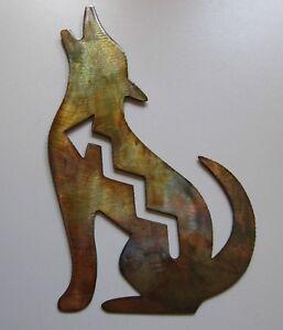 """Arizona Howling Coyote Wall Art - 10"""" - Copper"""