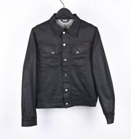 Nudie Jeans Conny Org. Back 2 Black Men Denim Jacket Size M