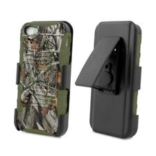 For iPhone 5 / 5S / SE Hybrid Armor Rugged Holster Clip Combo Phone Case CAMO