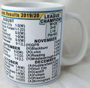 Leeds Championship League Champions 2020 Results Coffee Tea Mug Football Shirt