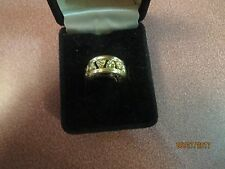 NEW WITHOUT TAG GOLDTONE Gold Tone Band Ring SIZE 5 OPEN WORK
