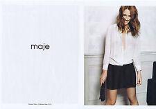 PUBLICITE ADVERTISING 094 2010 MAJE prêt à porter avec Vanessa Traina (2 pages)