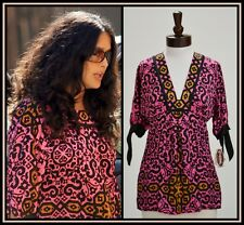 Hale Bob Tunic Top Silk Size XS 2 4 NWT Pink Print Seen on Celebrity $236