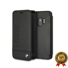 Genuine BMW Leather Book Case for Samsung Galaxy S9 with Embossed BMW logo