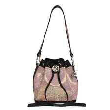 Original Raviani AB Color Full Crystal Genuine Leather Trim Drawstring Bag f4be0b013e086