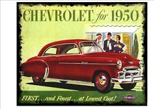 Vintage Chevrolet Advertising poster reproduction metal sign, 1950s retro Advert