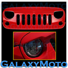 07-16 Jeep JK Wrangler Front Hood Factory RED Replacement Grille Shell Rubicon
