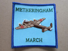 Metheringham March Walking Hiking Woven Cloth Patch Badge