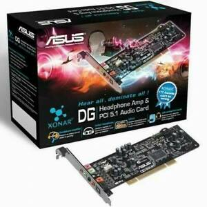 Asus Xonar DG 5.1 Surround Sound Card PCI 5.1 Sound card low profile bracket yes