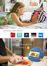 HAPPYtab iPad cushion tablet pillow beanbag stand accessory thing -Amalfi Grey