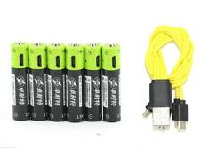 6pcs ZNTER 1.5V AAA 400mAh LiPo rechargeable lithium battery + USB charging line