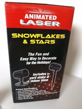 EZ-Illuminations Laser Light Christmas Snowflakes Stars Red/Green  Animated New