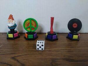 Trivial Pursuit DVD Pop Culture 2 Replacement Movers Gnome Peace 4 Pieces wedges
