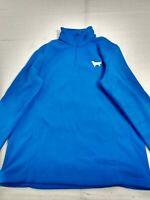 Lands' End - 1/4 Zip Long Sleeve Fleece Pullover - Women - Small - Blue