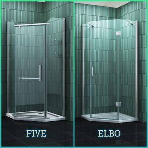 Fünfeck Duschkabine ELBO/FIVE Glas Eckeinstieg Dusche Duschabtrennung Duschwand
