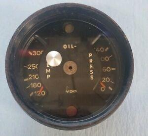 Porsche 911 1969 OEM VDO Oil Temperature & Pressure Gauge 90174150101