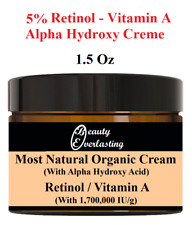 1.5oz MOST Potent* 5%  Retinol & Alpha Hydroxy Crème/Vitamin A-1,700,000 IU/g
