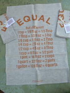 Studiopatro Equal Linen Tea Towel 3pc Set New