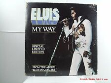 ELVIS -(45 W/P.S.)-IMPORT(CANADA) RED VINYL LIMITED EDITION  MY WAY/AMERICA-1977