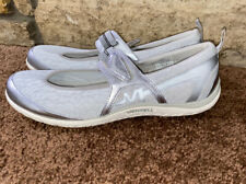 Women's US 11 MERRELL Silver White Gray Mary Jane Style Casual Shoes