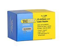 Tacwise CT45 8 mm Cable Galvanizado Grapadora Grapas, 5,000/BOX (5 X 1,000 Packs)