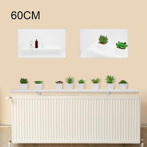 60cm White Radiator Cover Shelves Easy Fit MDF Wood Shelf Including Brackets