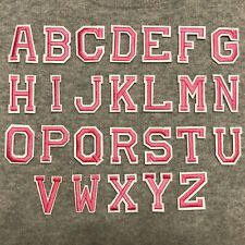 Pink Alphabet Letters Iron /Sew On Patch Badge For Clothes Hat ,A-Z Words
