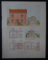 Planche architecture nouvelle - Groupe de maisons ouvrières - OUDIN architecte