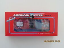 AMERICAN FLYER S GAUGE BOYS RAILROAD CLUB BOXCAR 6-48483 RED BLUE USA LIONEL