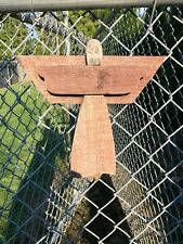 Primitive Rustic Barn wood Angel Antique Stained Red Sitter Rusty Heart Adorable